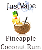 Pineapple and coconut rum e juice